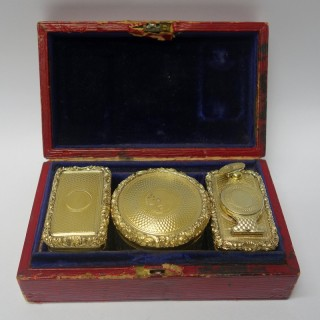 Georgian Style Silver Boxed Travelling Set