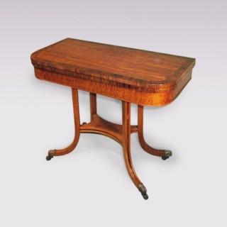Regency period mahogany Card Table.