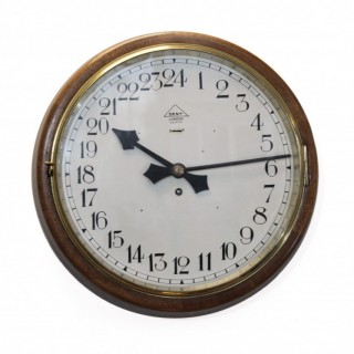 24-hour dial wall clock by Dent, London