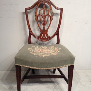 Set of four Hepplewhite  mahogany dining chairs.