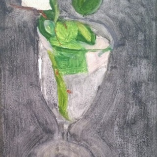 Patrick George  (1923-2016) Rose in a glass