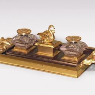 An antique bronze and ormolu Pentray.