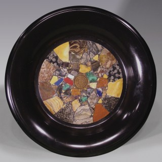 Early 19th Century black marble 'specimen' Tazza.