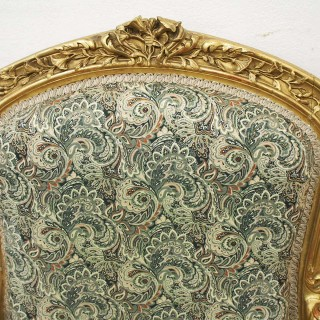 Pair of Louis XV Carved and Giltwood Armchairs