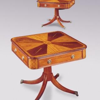 A pair of Irish 19th Century mahogany and satinwood Centre Tables.