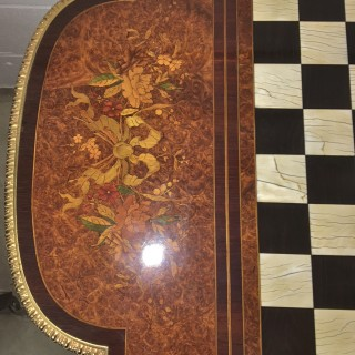 A French 19th Century ormolu mounted marquetry chess table
