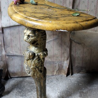 A Regency Period Gilded Leopard Monopodia Console Table c.1810-20