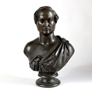 ROYAL PORTRAIT BRONZE BUST OF PRINCE ALBERT BY WILLIAM THEED III (1804-1891)