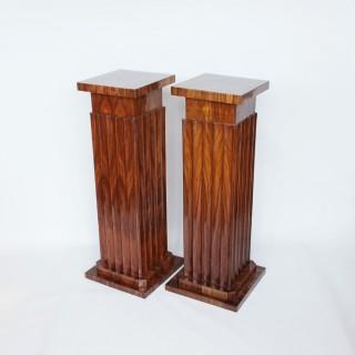 Pair of Art Deco Pedestals
