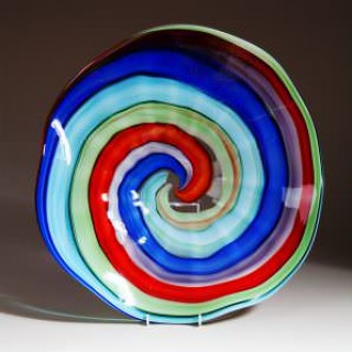LARGE MURANO GLASS CHARGER