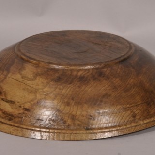 Antique Treen 19th Century Ash Fruit / Serving Bowl