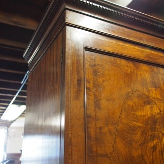 Late George IV Mahogany and Inlaid Wardrobe