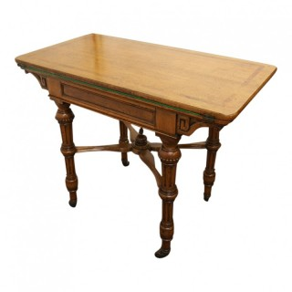 Gillows Style Oak Foldover Card Table