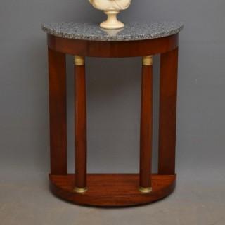Turn of The Century Mahogany Console Table