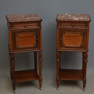 Pair of Superb Quality Rosewood Bedside Cabinets