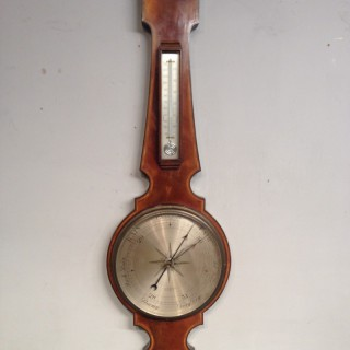 Mahogany wheel barometer by Chadburn's Ltd of Liverpool.