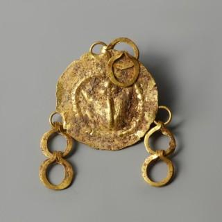Ancient Greek Gold Repousse Pendant