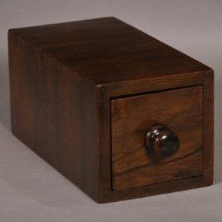 Antique Treen 19th Century Rosewood Magician's Vanishing Tirck Box