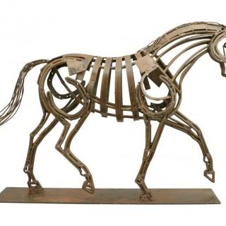 Contemporary Metal Horse Sculpture