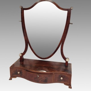 Sheraton mahogany dressing table mirror.