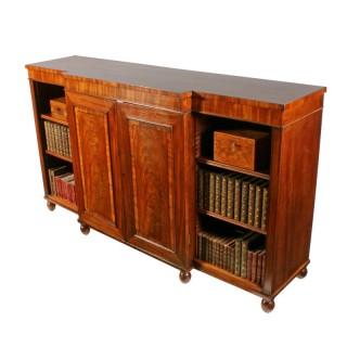 Regency Mahogany Breakfront Bookcase