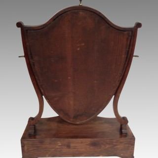 Sheraton mahogany dressing table mirror.