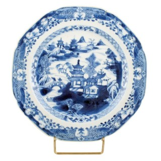 Chinese Qianlong Pottery Plate