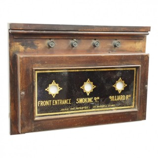Stained Beech Framed Servants Bell Box