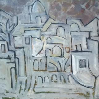 Paul Mount (1922-2009)  Mediterranean Village