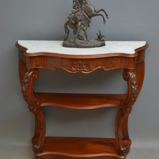 Victorian Period Mahogany Console Table
