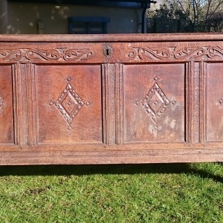 17th Century William And Mary Period Oak Coffer