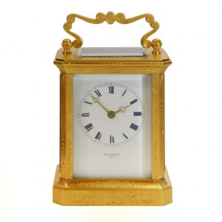 Engraved Carriage clock by Paul Garnier, c.1850s