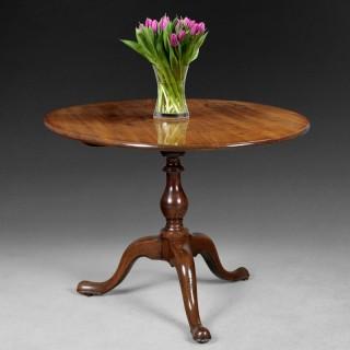 Rare mid 18th. century Mahogany Oval Breakfast Table