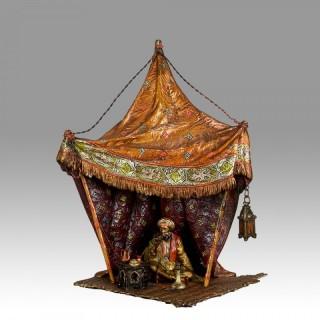 'Arab Tent Lamp' Vienna Bronze by Franz Bergman