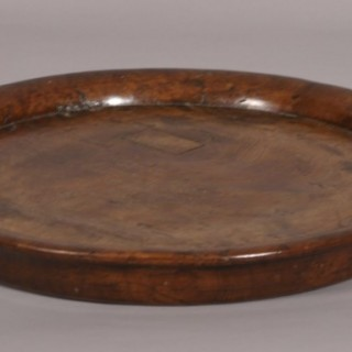 Antique Treen 18th Century elm Serving Dish