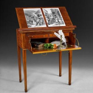 George III period Mahogany secretaire reading table