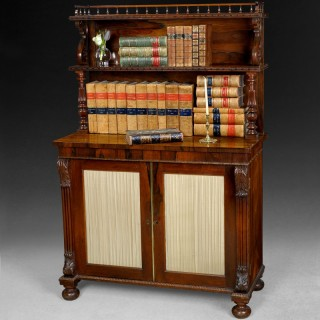 Regency Period Rosewood Bookcase/Chiffonier