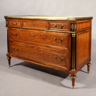 An Exceptional Late 18th Century Directoire Period Mahogany Commode