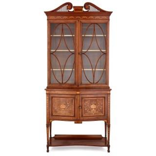 English Victorian period vitrine cabinet