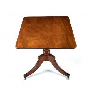 Georgian Mahogany Tilt Top Table