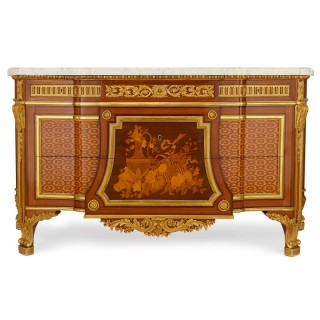 19th Century ormolu and marquetry commode by Mercier Freres