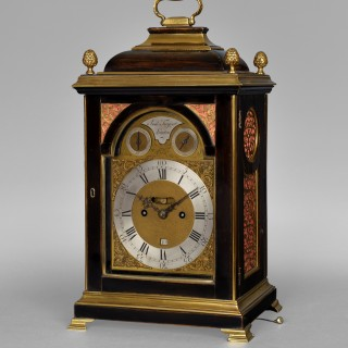 A fine George III ebonised and brass moulded bracket clock by Tregent, London 1780