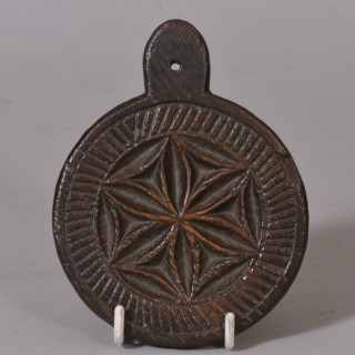 Antique Treen 19th Century Asian Cookie Mould