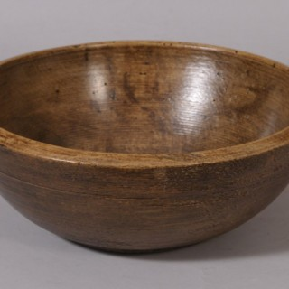 Antique Treen 19th Century Sycamore Bowl