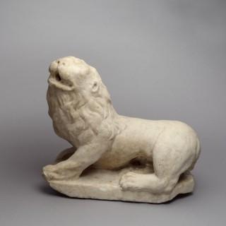 VENETIAN WHITE PARIAN MARBLE LION
