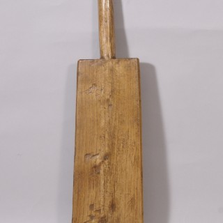Antique Treen 19th Century Elm Washing Bat