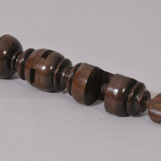 Antique Treen 19th Century Rosewood Table Clamp