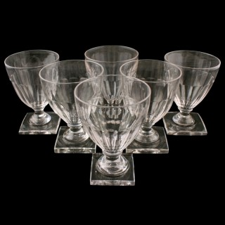 Six Edwardian Regency Style Rummers