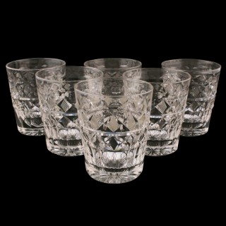 Set of Six 20th Century Glass Tumblers