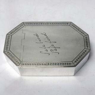 George V Silver Table Snuff Box